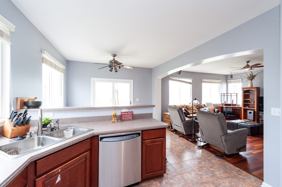 Real Estate Photography - 501 W Cambria Dr, Round Lake, IL, 60073 - Kitchen/Family Room
