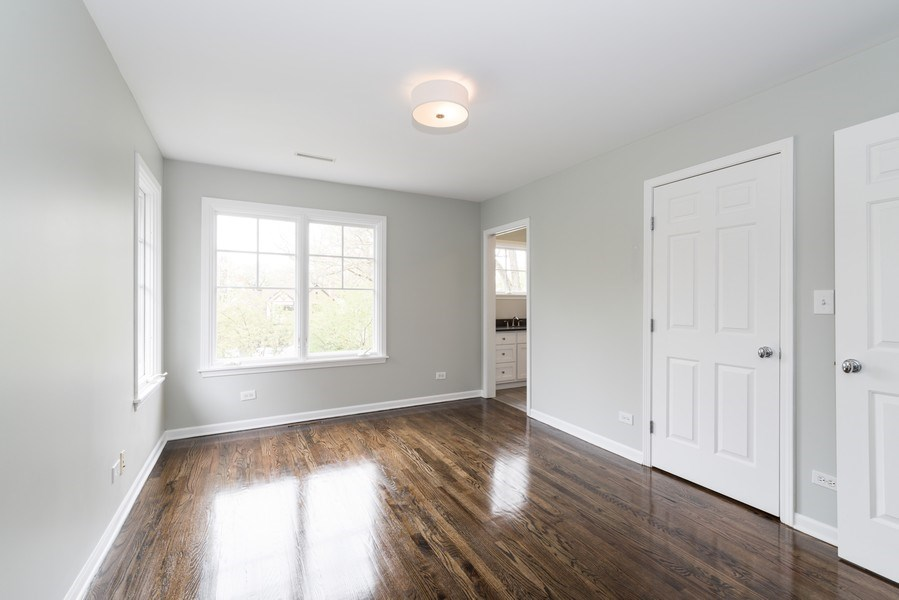 Real Estate Photography - 1437 Asbury Ave, Winnetka, IL, 60093 - Bedroom