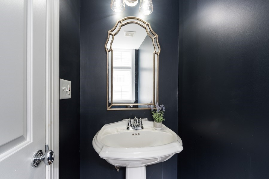 Real Estate Photography - 1437 Asbury Ave, Winnetka, IL, 60093 - Powder Room