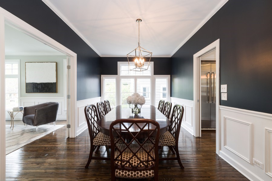 Real Estate Photography - 1437 Asbury Ave, Winnetka, IL, 60093 - Dining Room