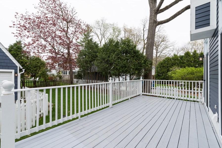 Real Estate Photography - 1437 Asbury Ave, Winnetka, IL, 60093 - Back Yard