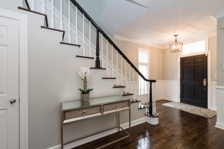 Real Estate Photography - 1437 Asbury Ave, Winnetka, IL, 60093 - Foyer