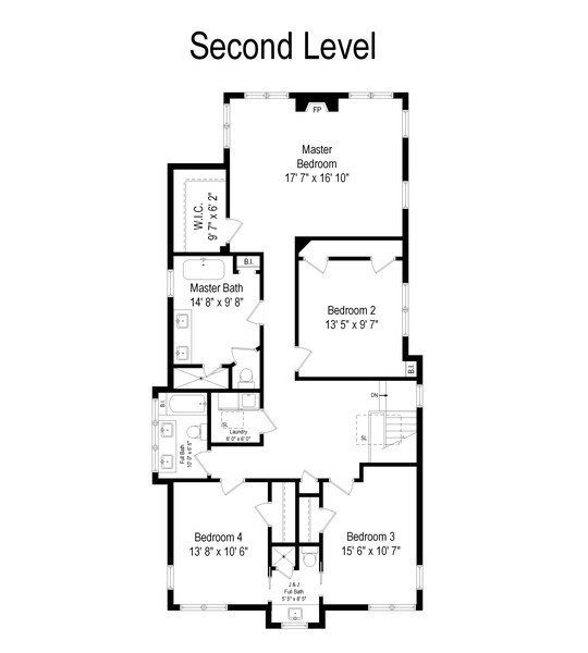 Real Estate Photography - 1437 Asbury Ave, Winnetka, IL, 60093 - Floor Plan
