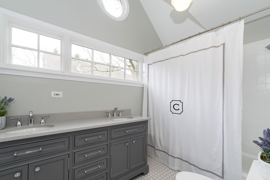 Real Estate Photography - 1437 Asbury Ave, Winnetka, IL, 60093 - 2nd Bathroom