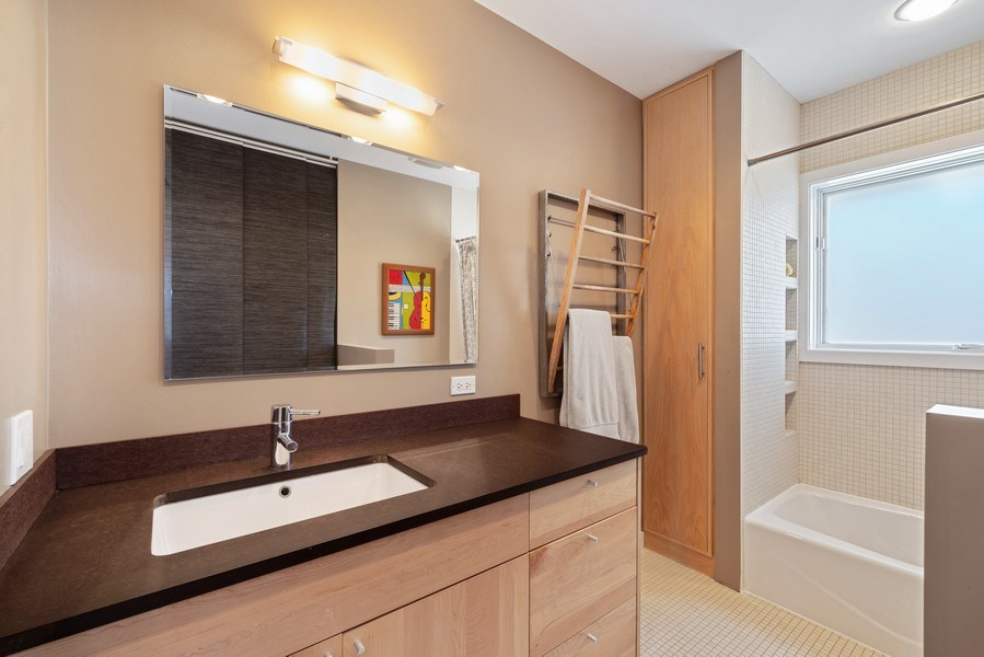 Real Estate Photography - 1148 Illinois Rd, Wilmette, IL, 60091 - 3rd Bathroom