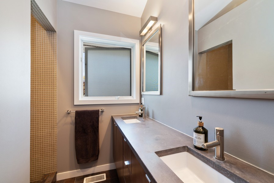 Real Estate Photography - 1148 Illinois Rd, Wilmette, IL, 60091 - Master Bathroom