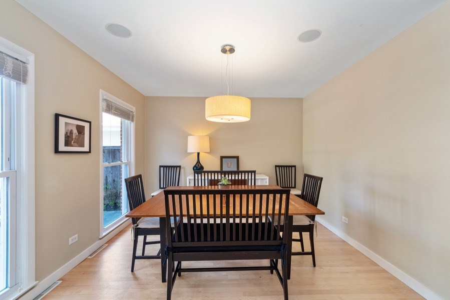 Real Estate Photography - 1148 Illinois Rd, Wilmette, IL, 60091 - Dining Room