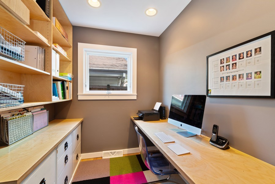 Real Estate Photography - 1148 Illinois Rd, Wilmette, IL, 60091 - Office