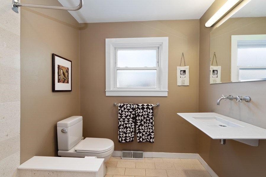 Real Estate Photography - 1148 Illinois Rd, Wilmette, IL, 60091 - Bathroom