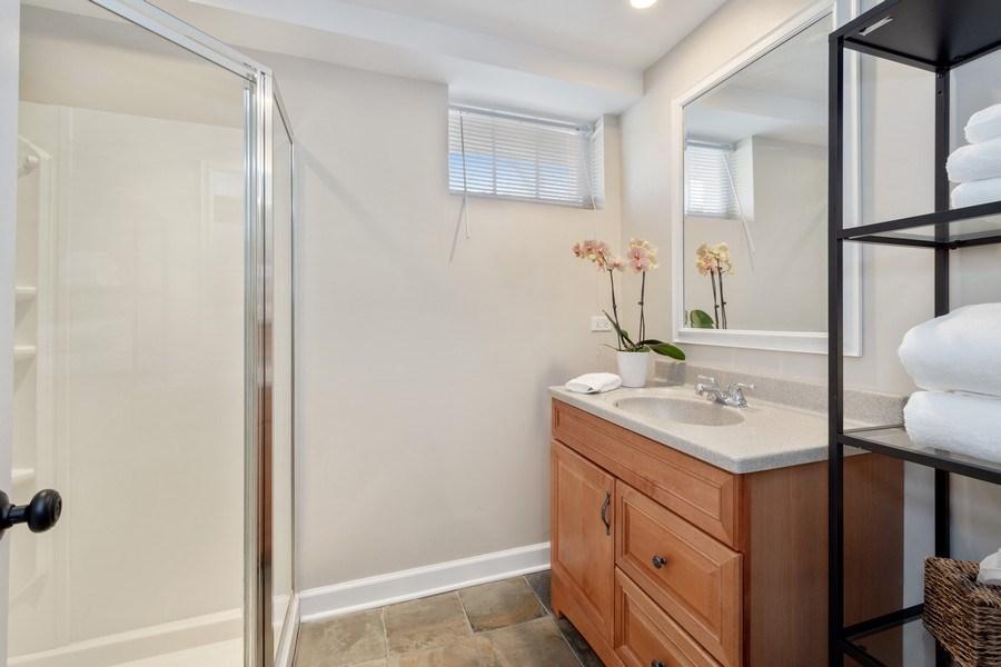Real Estate Photography - 119 W Russell St, Barrington, IL, 60010 - Basement Full Bathroom