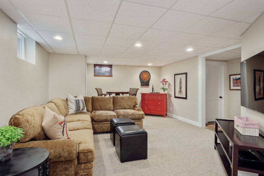 Real Estate Photography - 119 W Russell St, Barrington, IL, 60010 - Lower Level Family Room