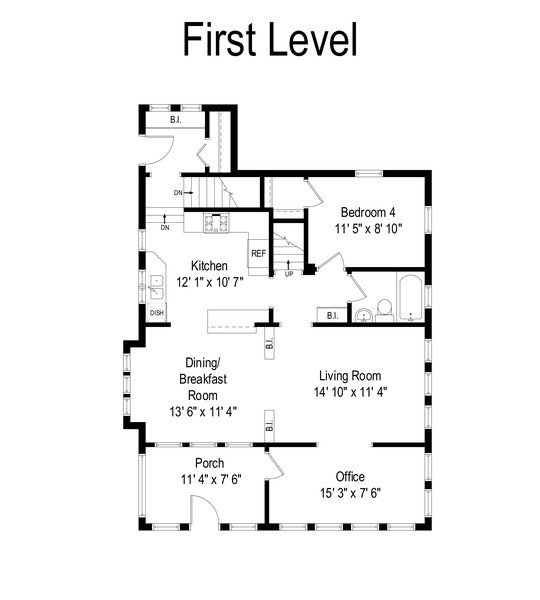 Real Estate Photography - 119 W Russell St, Barrington, IL, 60010 - Floor Plan