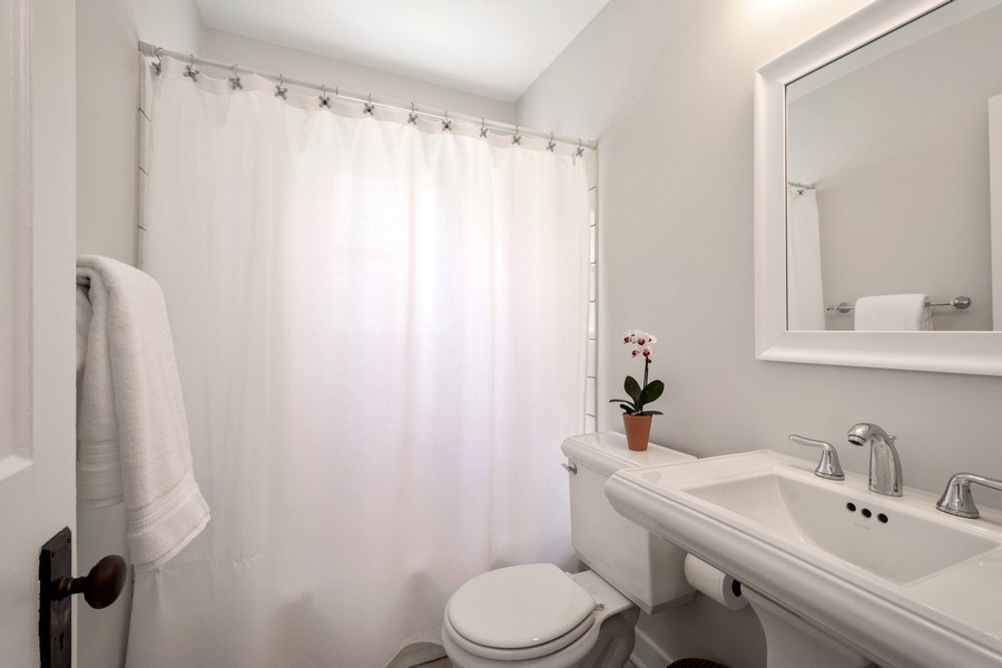 Real Estate Photography - 119 W Russell St, Barrington, IL, 60010 - First Floor Bathroom