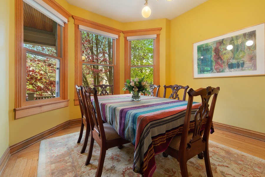 Real Estate Photography - 4101 N Greenview, Chicago, IL, 60613 - Dining Room
