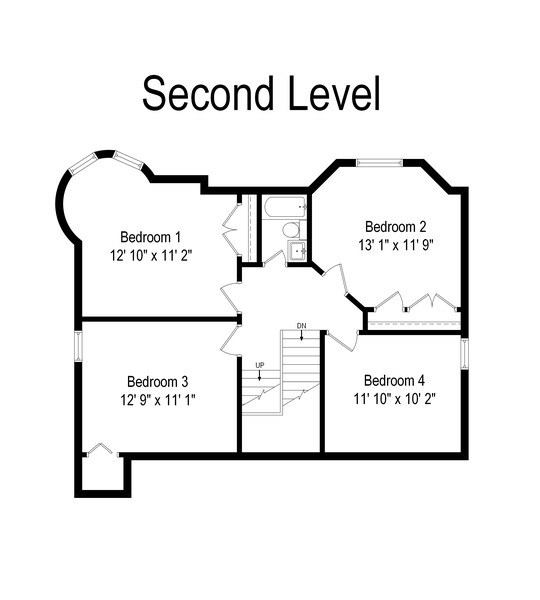 Real Estate Photography - 4101 N Greenview, Chicago, IL, 60613 - Floor Plan