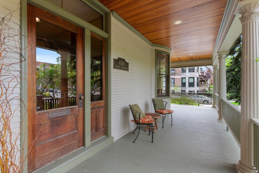 Real Estate Photography - 4101 N Greenview, Chicago, IL, 60613 - Porch