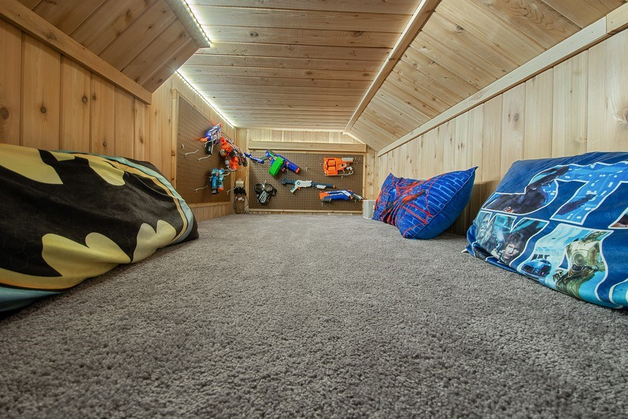 Real Estate Photography - 215 Cold Spring Rd, Barrington, IL, 60010 - Finished Crawlspace / Fort