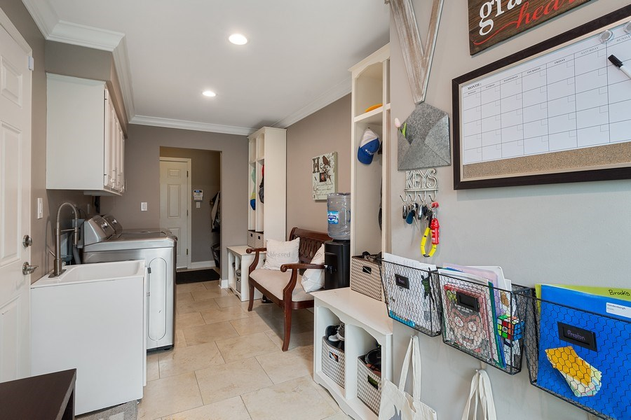 Real Estate Photography - 215 Cold Spring Rd, Barrington, IL, 60010 - Mudroom