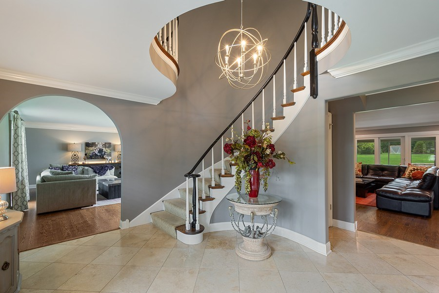 Real Estate Photography - 215 Cold Spring Rd, Barrington, IL, 60010 - Foyer