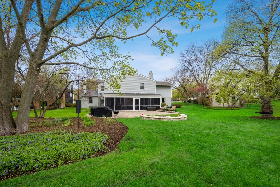 Real Estate Photography - 215 Cold Spring Rd, Barrington, IL, 60010 - Rear View