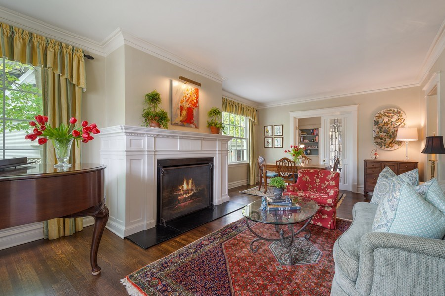 Real Estate Photography - 616 S. Grove Ave, Barrington, IL, 60010 - Living Room