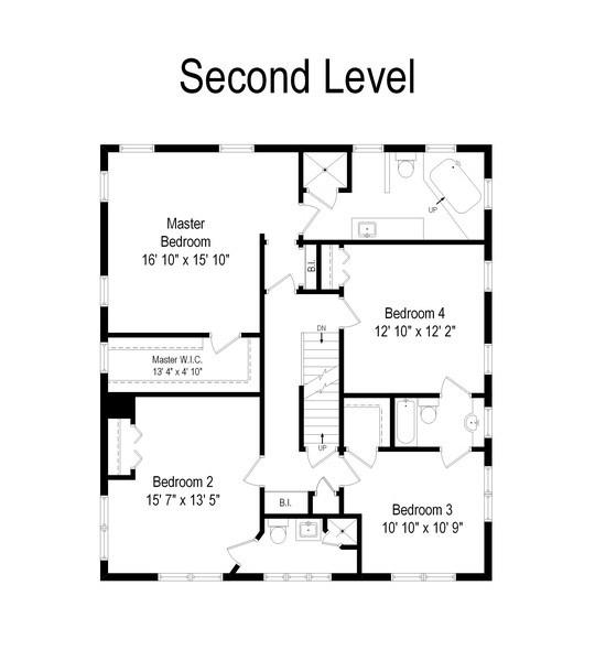 Real Estate Photography - 616 S. Grove Ave, Barrington, IL, 60010 - Floor Plan
