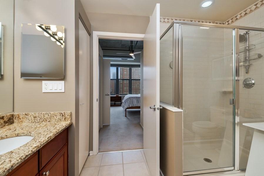 Real Estate Photography - 849 N Franklin St, unit 1412, Chicago, IL, 60610 - Master Bathroom