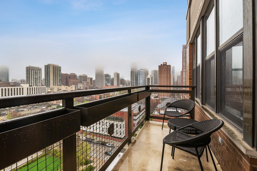 Real Estate Photography - 849 N Franklin St, unit 1412, Chicago, IL, 60610 - Balcony