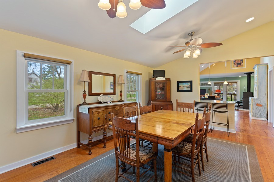 Real Estate Photography - 16125 First Ln, Union Pier, MI, 49129 - Dining Room