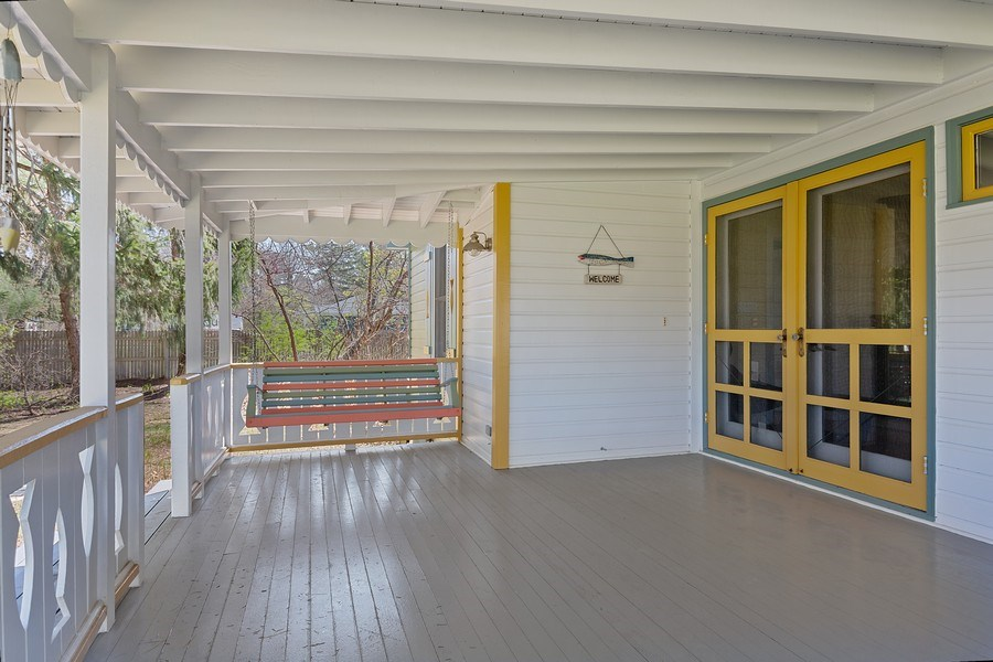 Real Estate Photography - 16125 First Ln, Union Pier, MI, 49129 - Porch