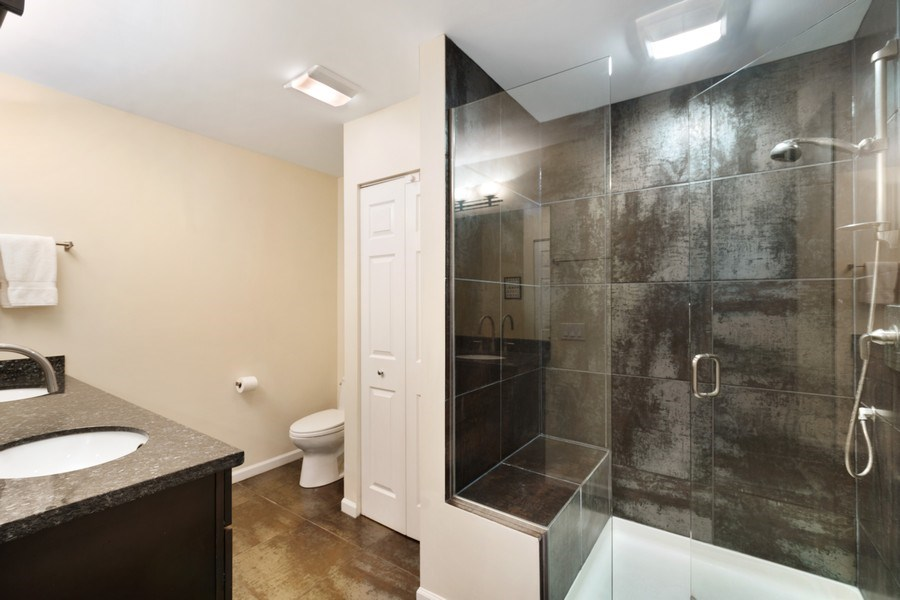 Real Estate Photography - 645 Lincoln Avenue West Ave, Highland Park, IL, 60035 - Master Bathroom