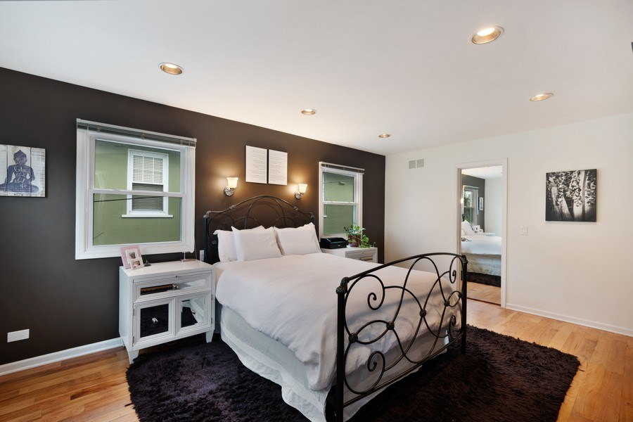 Real Estate Photography - 645 Lincoln Avenue West Ave, Highland Park, IL, 60035 - Master Bedroom