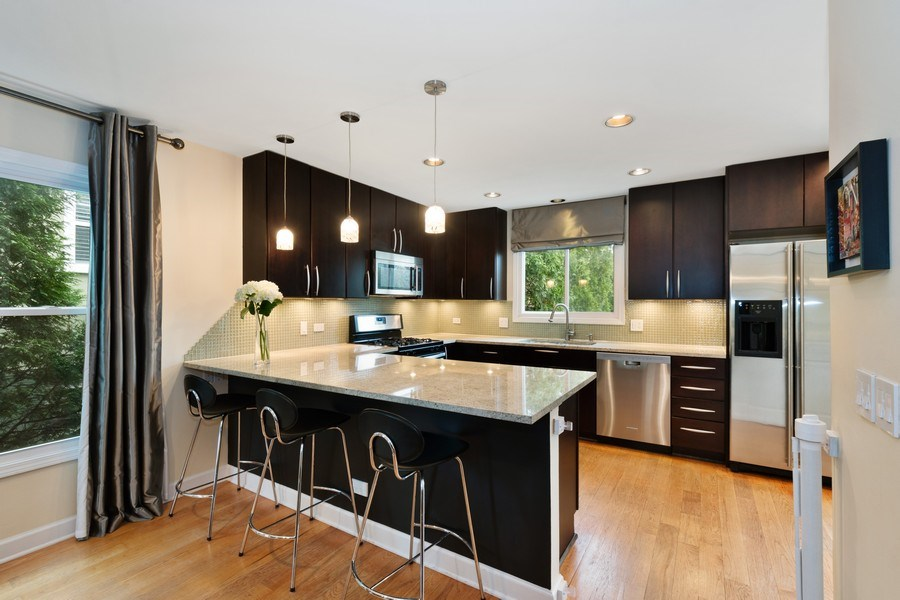 Real Estate Photography - 645 Lincoln Avenue West Ave, Highland Park, IL, 60035 - Kitchen