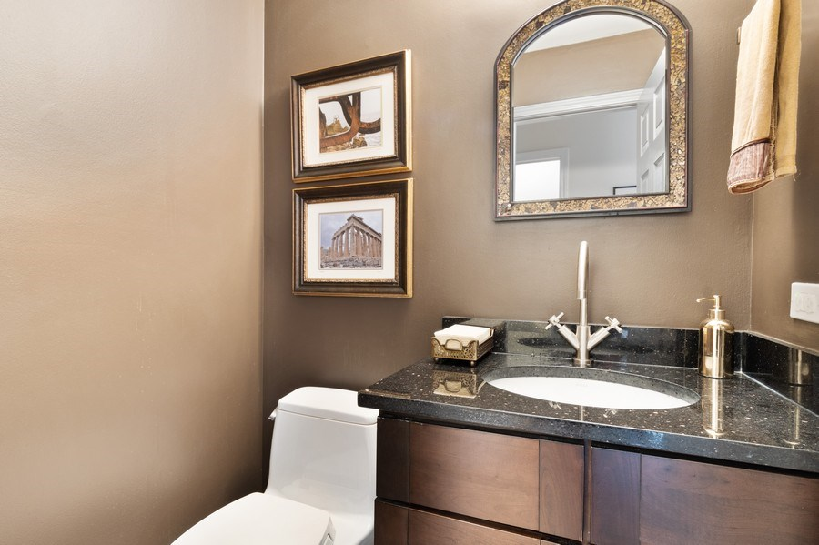 Real Estate Photography - 645 Lincoln Avenue West Ave, Highland Park, IL, 60035 - Powder Room