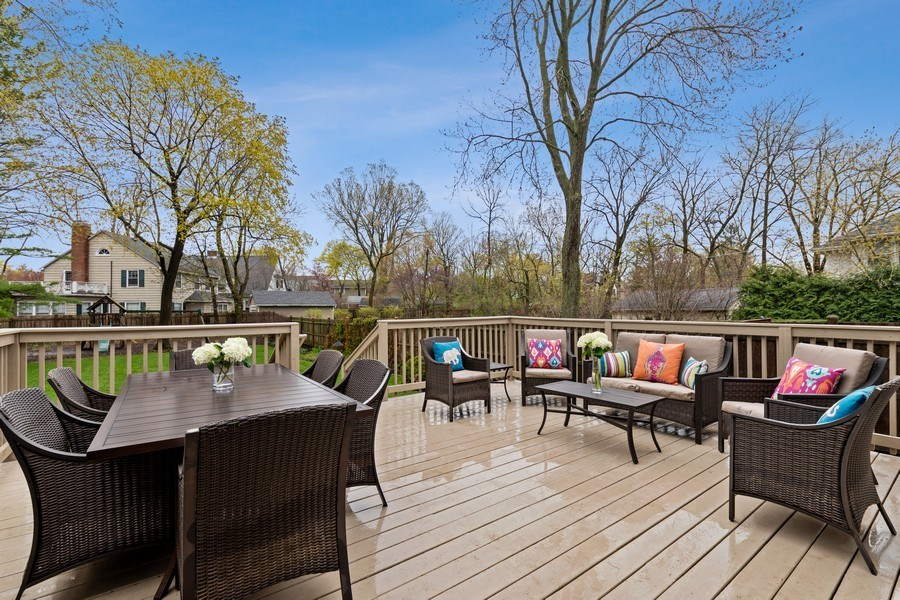 Real Estate Photography - 645 Lincoln Avenue West Ave, Highland Park, IL, 60035 - Deck