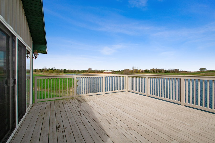 Real Estate Photography - 27735 41st St, Salem, WI, 53168 - Boat House Over Water Deck