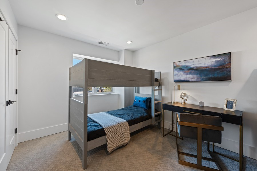 Real Estate Photography - 885 W. Lill Ave., #6, Chicago, IL, 60614 - 3rd Bedroom