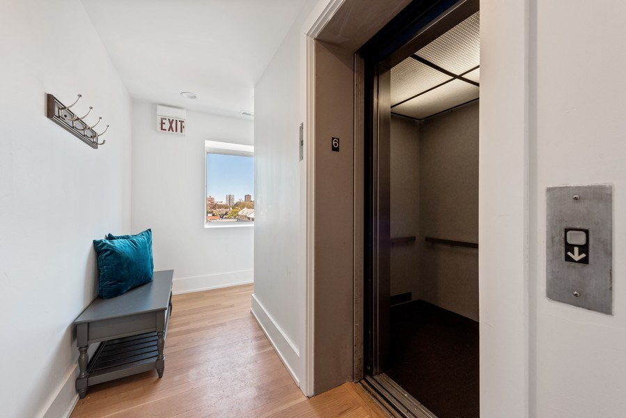 Real Estate Photography - 885 W. Lill Ave., #6, Chicago, IL, 60614 - Elevator Building