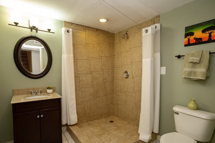 Real Estate Photography - 718 E Euclid Ave, Arlington Heights, IL, 60004 - 2nd Bathroom