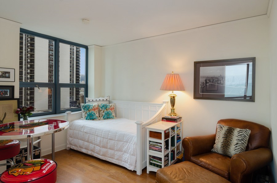 Real Estate Photography - 201 N Westshore Dr, Unit 1102, Chicago, IL, 60601 - 3rd Bedroom