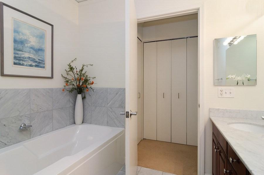 Real Estate Photography - 201 N Westshore Dr, Unit 1102, Chicago, IL, 60601 - Master Bathroom