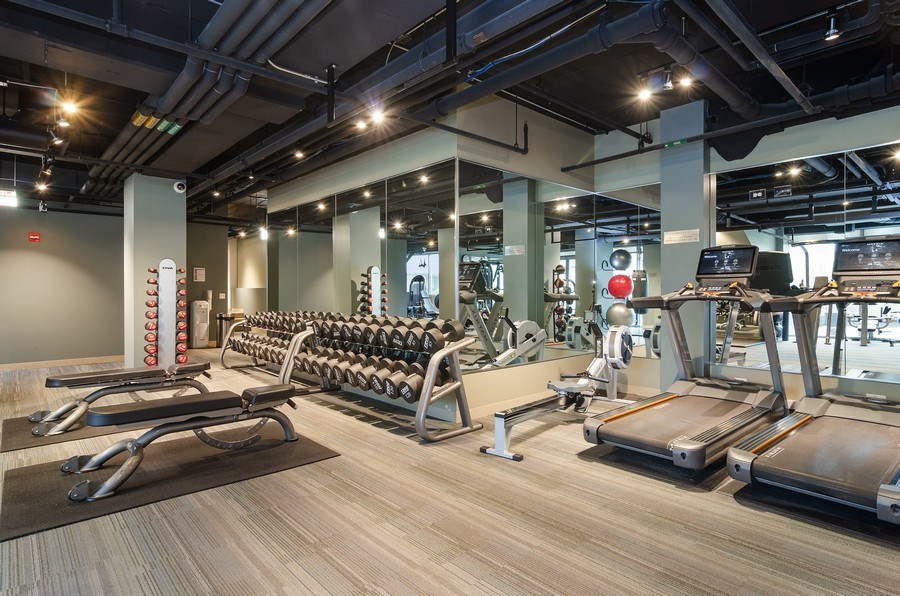 Real Estate Photography - 201 N Westshore Dr, Unit 1102, Chicago, IL, 60601 - Fitness Center