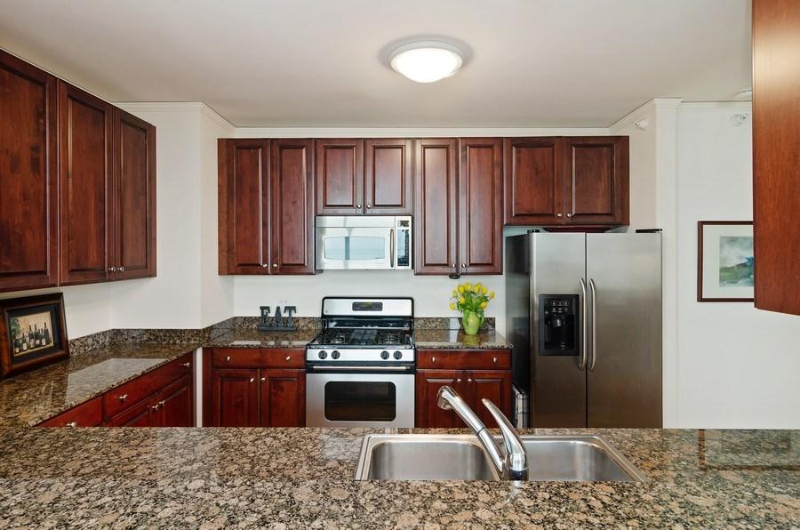 Real Estate Photography - 201 N Westshore Dr, Unit 1102, Chicago, IL, 60601 - Kitchen