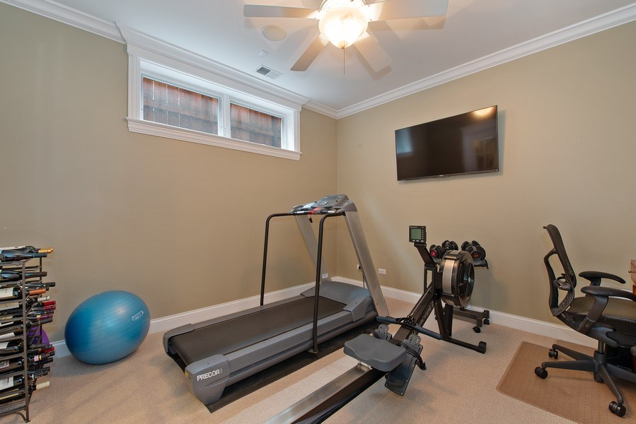 Real Estate Photography - 1834 W. Larchmont, Chicago, IL, 60613 - Gym