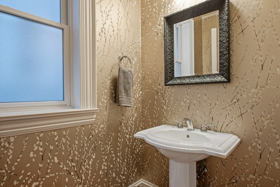 Real Estate Photography - 1834 W. Larchmont, Chicago, IL, 60613 - Powder Room