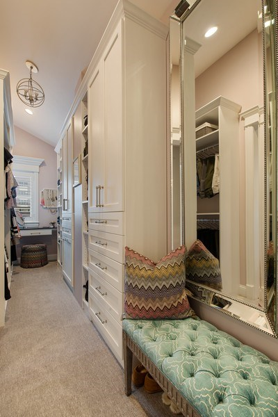 Real Estate Photography - 1834 W. Larchmont, Chicago, IL, 60613 - Master Bedroom Closet