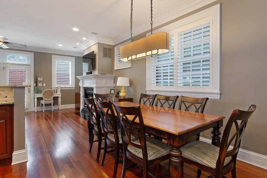 Real Estate Photography - 1834 W. Larchmont, Chicago, IL, 60613 - Breakfast Nook