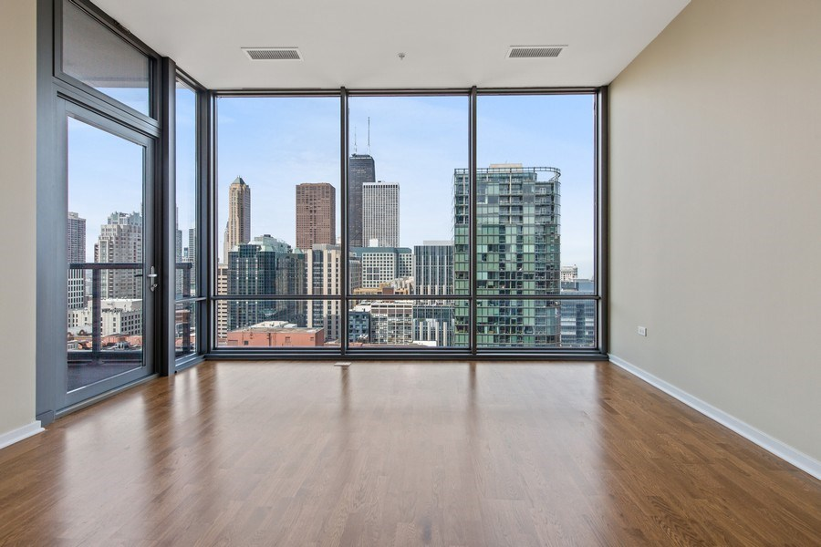 Real Estate Photography - 240 E. Illinois Street, Unit #2704, Chicago, IL, 60611 - Living Room