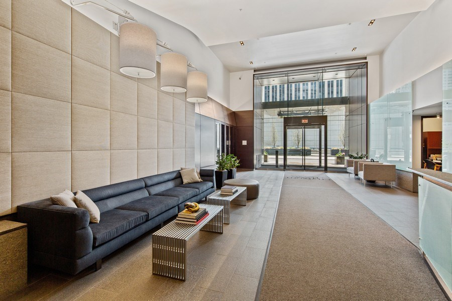 Real Estate Photography - 240 E. Illinois Street, Unit #2704, Chicago, IL, 60611 - Renovated Lobby