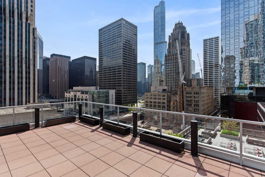 Real Estate Photography - 240 E. Illinois Street, Unit #2704, Chicago, IL, 60611 - Pool Terrace with Stunning Views